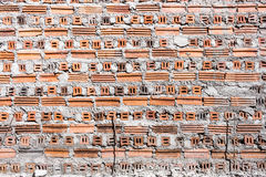 Background. Uncover cement orange brick wall Royalty Free Stock Photo