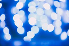 Bokeh blue lights Stock Photos