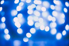 Bokeh blue lights Royalty Free Stock Photography