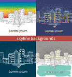 Background with urban landscapes Stock Images
