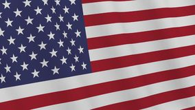 USA flag waving in the wind. 3D rendering. Background - USA flag. American flag waving in the wind. Loopable. 3D rendering stock footage