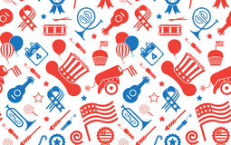 Background with USA Symbols. Stock Photos