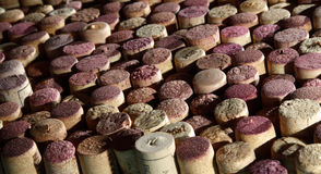 Background of used wine corks. Royalty Free Stock Photo