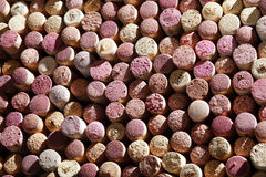 Background of used wine corks. Cork tops. Background of used wine corks Stock Image