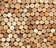 Background of used wine corks, wall of many different wine corks closeup Royalty Free Stock Photos