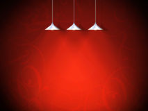 Background, valentine. A red background with lamps Royalty Free Stock Images