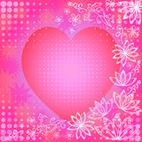 Background with valentine heart Stock Photos