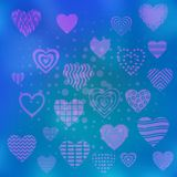 Background with valentine hearts Royalty Free Stock Photo
