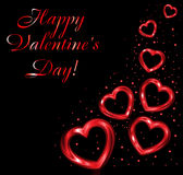 Background  of valentine hearts. Royalty Free Stock Image
