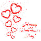 Background  of valentine hearts. Stock Photo