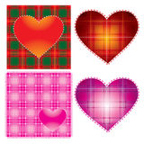 Background for valentine?s day. Vector heart background for valentine?s day, textured in scottish style Royalty Free Stock Photos