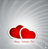 Background for Valentine's Day. Festive background with two protruding hearts Stock Images
