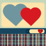 Background for valentine's day. Vector illustration of love background for valentine's day Royalty Free Stock Photos
