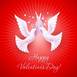 Background on Valentine's Day Royalty Free Stock Photo
