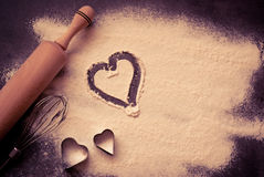 Background for Valentine's Day baking Royalty Free Stock Image