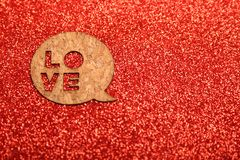 Background for Valentine`s Day Stock Photography