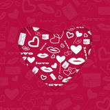 Background for Valentines Day Stock Image