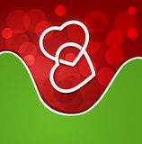 Background for Valentine's Day with two hearts Royalty Free Stock Photography