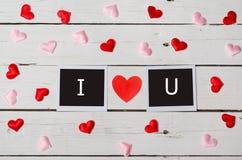 Background Valentine& x27;s Day, the inscription I love you. Stock Photo
