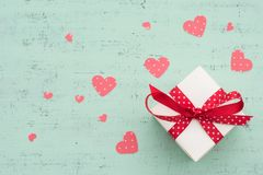 Valentines day gift. Background with valentines day gift Royalty Free Stock Photos
