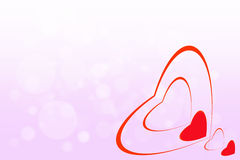 Background for valentines day. The heart symbol on a beautiful bokeh background, concept for valentines day Stock Photos
