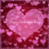 Background for Valentines Day with hearts Royalty Free Stock Photo
