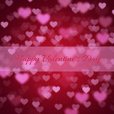 Background for Valentines Day with hearts Royalty Free Stock Images
