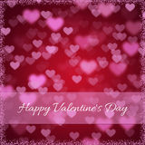 Background for Valentines Day with hearts.  Royalty Free Stock Photos