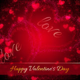Background for Valentines Day with hearts Royalty Free Stock Image