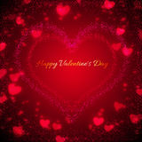 Background for Valentines Day with hearts Stock Image