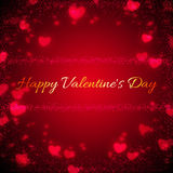 Background for Valentines Day with hearts Royalty Free Stock Photography