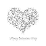 Background for Valentines Day with hearts Stock Photo