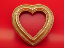 Background Valentines Day. Old vintage ornate picture frame. Royalty Free Stock Photos