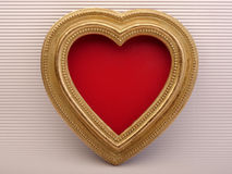 Background Valentines Day. Old vintage ornate picture frame. Stock Photography