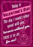 Background with Valentines Day. Vector background with hearts Valentines Day Royalty Free Stock Photo
