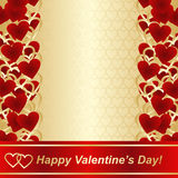 Background for Valentines day or wedding design. Stock Image