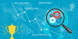 Background VALUE PROPOSITION on blue Stock Image