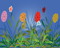 Background with varicoloured flowers Royalty Free Stock Image