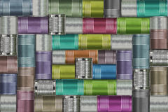 Background of variety cans Royalty Free Stock Image