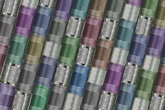 Background of variety cans Royalty Free Stock Photography
