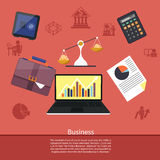 Background with various business elements Royalty Free Stock Photography