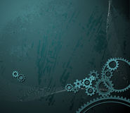 Background with various cogwheels Stock Photo
