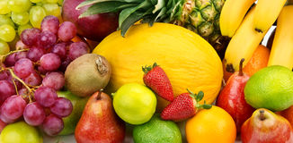 Background of various fruits royalty free stock photos