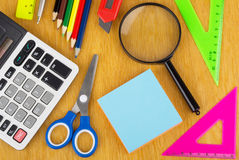 Background from Various office supplies Royalty Free Stock Image