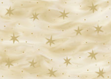 Background in various shades of gold with stars painted. In landscape format Royalty Free Stock Photography