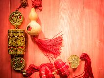 Chinese new year background. A background with various traditional Chinese new years decorations Stock Image
