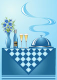 Background vase with flower wine Stock Photography