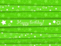 Background. Vector green birthday card with stars, EPS10 Stock Image
