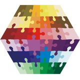 Background Vector Illustration jigsaw puzzle in Royalty Free Stock Photo