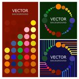 Background. Vector illustration. A picture of three backgrounds. Vector illustration. Abstraction Stock Images